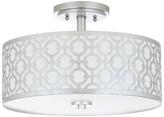 Safavieh Vera 3-Light Silver Flush Mount