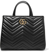 Gucci Gg Marmont Quilted Leather Tote - Black