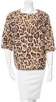 Christian Dior Leopard Patterned Short Sleeve Top