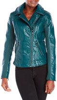 Steve Madden Asymmetric Faux Leather Moto Jacket