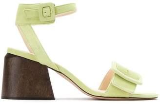 Framed Wooden Heels Sandals