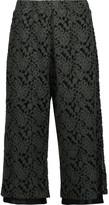 MM6 MAISON MARGIELA Cropped flocked mesh wide-leg pants