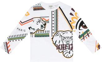 Kenzo Kids Animal print cotton T-shirt