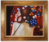 """Gustav """"Sea Serpents IV"""" Framed Canvas Art by Klimt"""