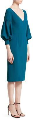 David Meister Puff-Sleeve Sheath Dress