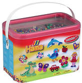 Hama beads 10,000 Beads and Pegboards Bucket