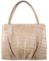 Nancy Gonzalez Crocodile Handle Bag
