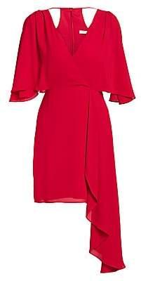 Halston Women's Flowy Faux Wrap Mini Dress
