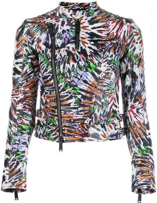 DSQUARED2 Punk pattern biker jacket