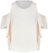 Bishop + Young Cream Cold Shoulder Crop