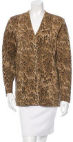 Saint Laurent Virgin Wool Leopard Cardigan