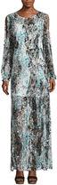 BELLE + SKY Long Sleeve Cold Shoulder Maxi Dress