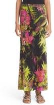 Fuzzi Women's Fern Print Tulle Maxi Skirt