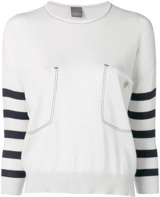 Lorena Antoniazzi striped sleeves sweater