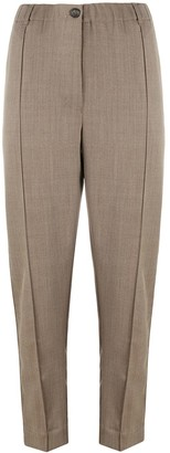 Tela Front-Pleat Cropped Trousers