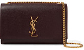 Saint Laurent Monogramme Kate Medium Textured-leather Shoulder Bag - Merlot