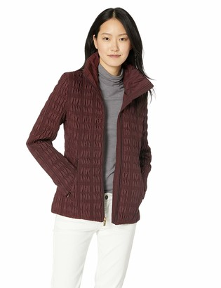 Anne Klein Women's Zip Front Quilted Jacket with Zipper Pockets