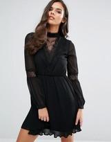 Vero Moda Lace Detail Skater Dress