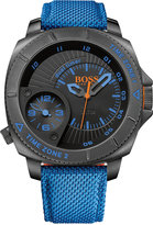 BOSS ORANGE Men's Sao Paulo Blue Woven Nylon Strap Watch 54mm 1513209