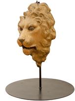 Rejuvenation Cast Iron Lion's Head Architectural Medallion c1920