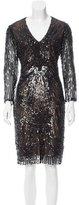 Reem Acra Embellished Midi Dress