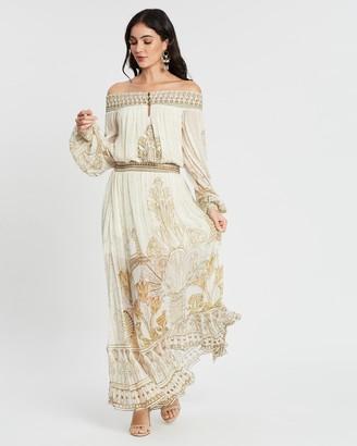 Camilla Off-Shoulder Shirred Dress