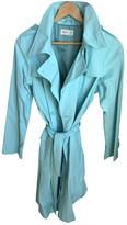 agnès b. Turquoise Cotton Trench Coat for Women