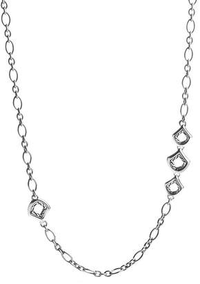 John Hardy Naga Sterling Silver Figaro Chain Necklace with Figurative Clasp, 36""