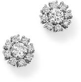 Roberto Coin 18K White Gold Flower Earrings with Diamonds