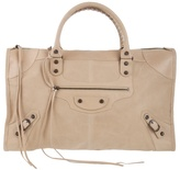 BALENCIAGA - 'Work ' large leather handbag