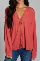 Love Stitch Lovestitch Crochet Inset Blouse