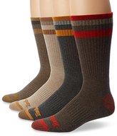Timberland Men's 4 Pack Sriped Crew Sock