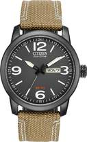 Citizen Men's BM8476-23E Sport Wrist Watch with Beige Band and Dial