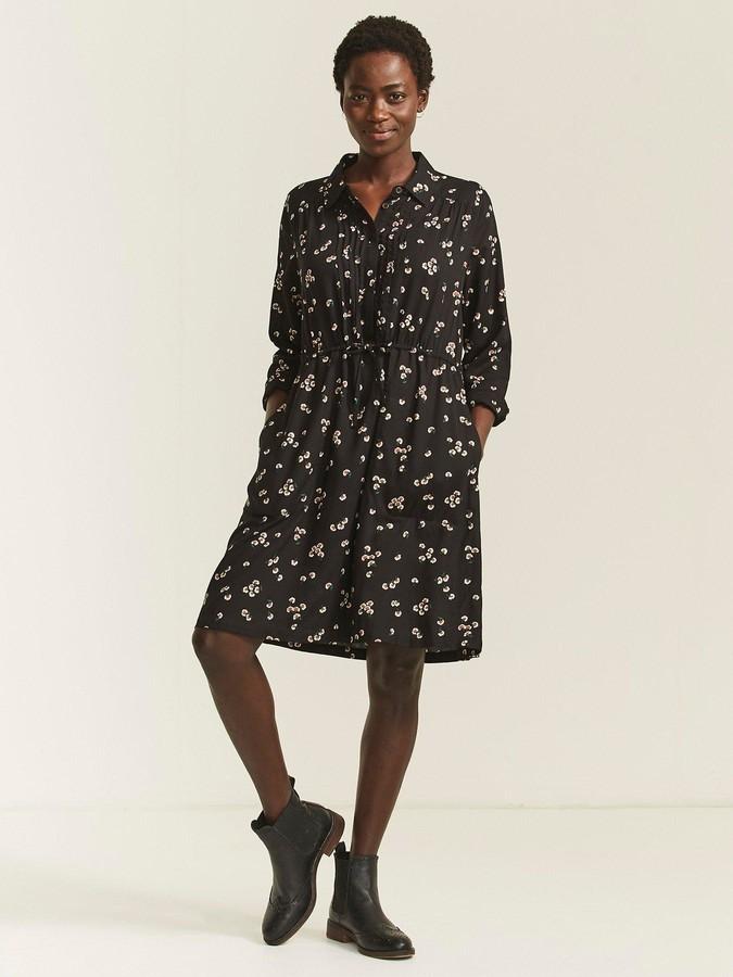 Fat Face Fatface Madagan Floating Bloom Dress - Black
