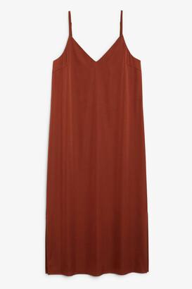 Monki Satin slip dress