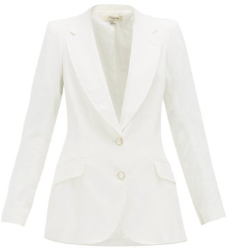 Temperley London Sophia Single-breasted Linen-blend Jacket - White