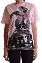McQ Women's Pink Cotton T-shirt.