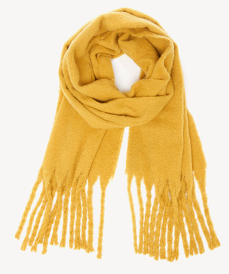 Sole Society Women's Over Blanket Scarf With Fringe Mustard From