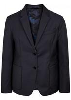 Valentino Navy Reversible Wool Blend Blazer