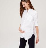 LOFT Maternity Crisp Tunic Softened Shirt
