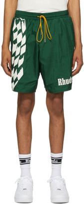 Rhude Green Warm-Up Shorts