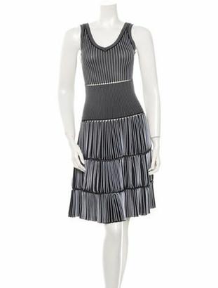 Alaia Sleeveless Knit Dress Black