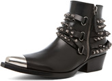 Sartore Parma Bootie with Studs in Black
