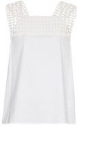 A.L.C. Evans crochet-trimmed stretch-cotton top
