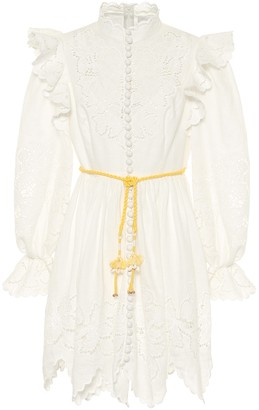 Zimmermann Carnaby linen minidress