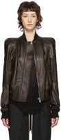 Rick Owens Black Leather Zionic Jacket