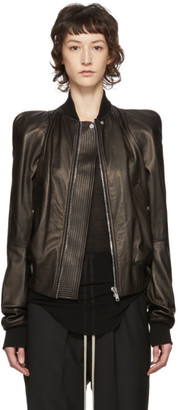 Rick Owens Black Leather Zionic Jacket