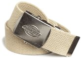 Dickies Men's 30 Millimeter Cotton Web Belt With Military Logo Buckle