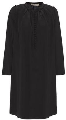 Vanessa Bruno Lyan Picot-trimmed Silk Crepe De Chine Mini Dress