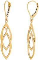 14K Polished Double Marquise Drop Earrings